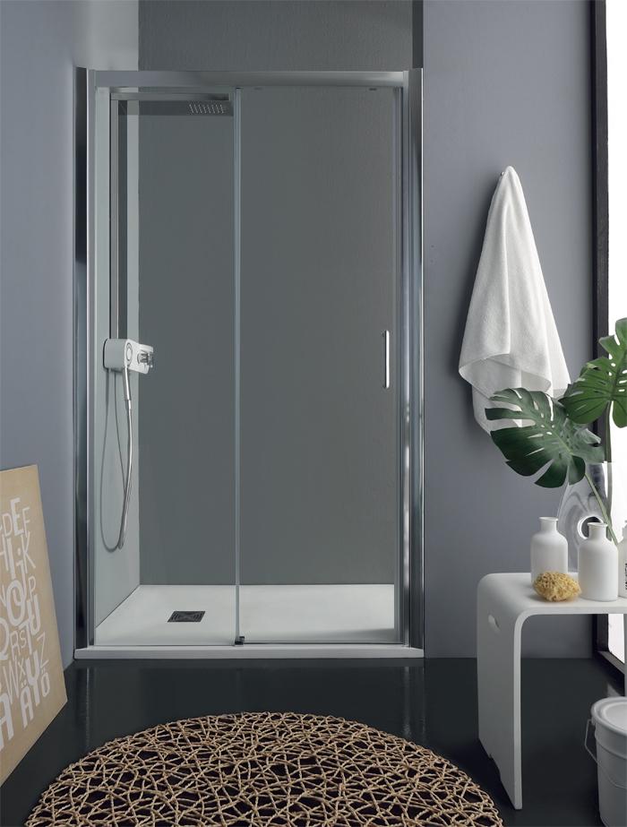 Porta doccia scorrevole nicchia psc55 pavone casa - Pica casa box doccia ...