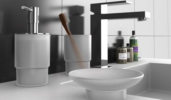 Accessori bagno design da appoggio set accessori bagno da appoggio di design crystal in offerta - Accessori bagno da appoggio ...