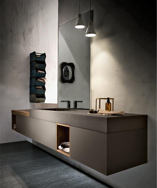 mobile da bagno minimal play pavone casa arredo bagno