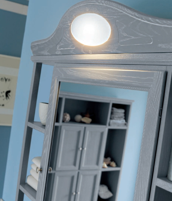 Mobile da bagno grigio chiaro paestum pavone casa arredamento bagno e design made in italy - Mobili da bagno classici ...
