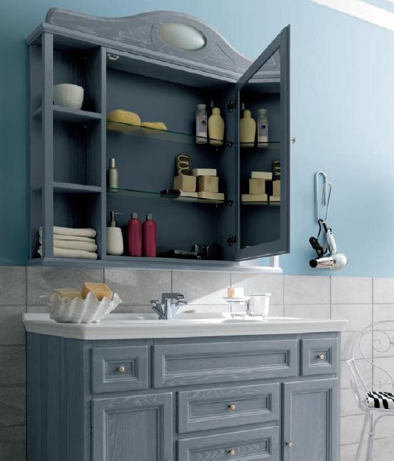 Mobile da bagno grigio chiaro paestum pavone casa arredamento bagno e design made in italy - Bagno grigio chiaro ...
