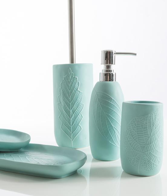 Accessori Bagno Verde Acqua.Collezione Accessori Bagno Leaves Pavone Casa Arredo Bagno E Design Made In Italy