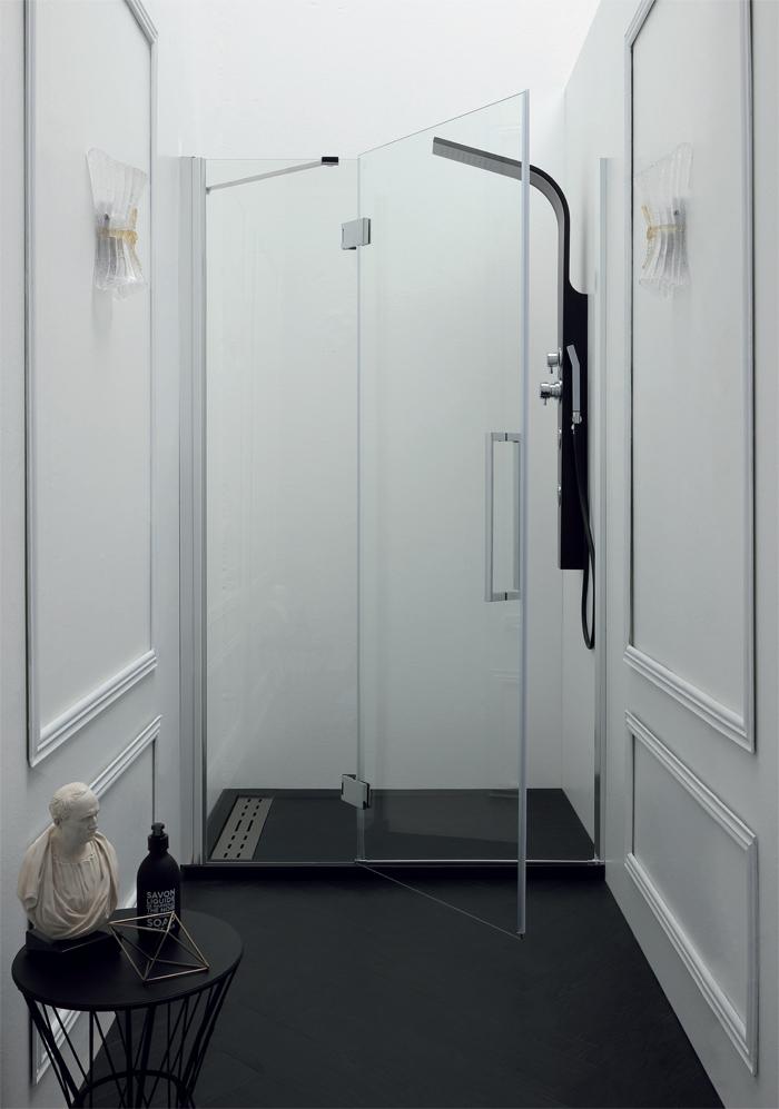 Porta doccia battente nicchia epb43 pavone casa - Pica casa box doccia ...